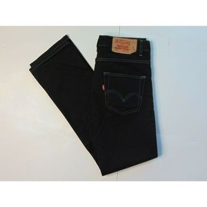 Levi's 50 31x34 Black Jeans Straight Fit Button
